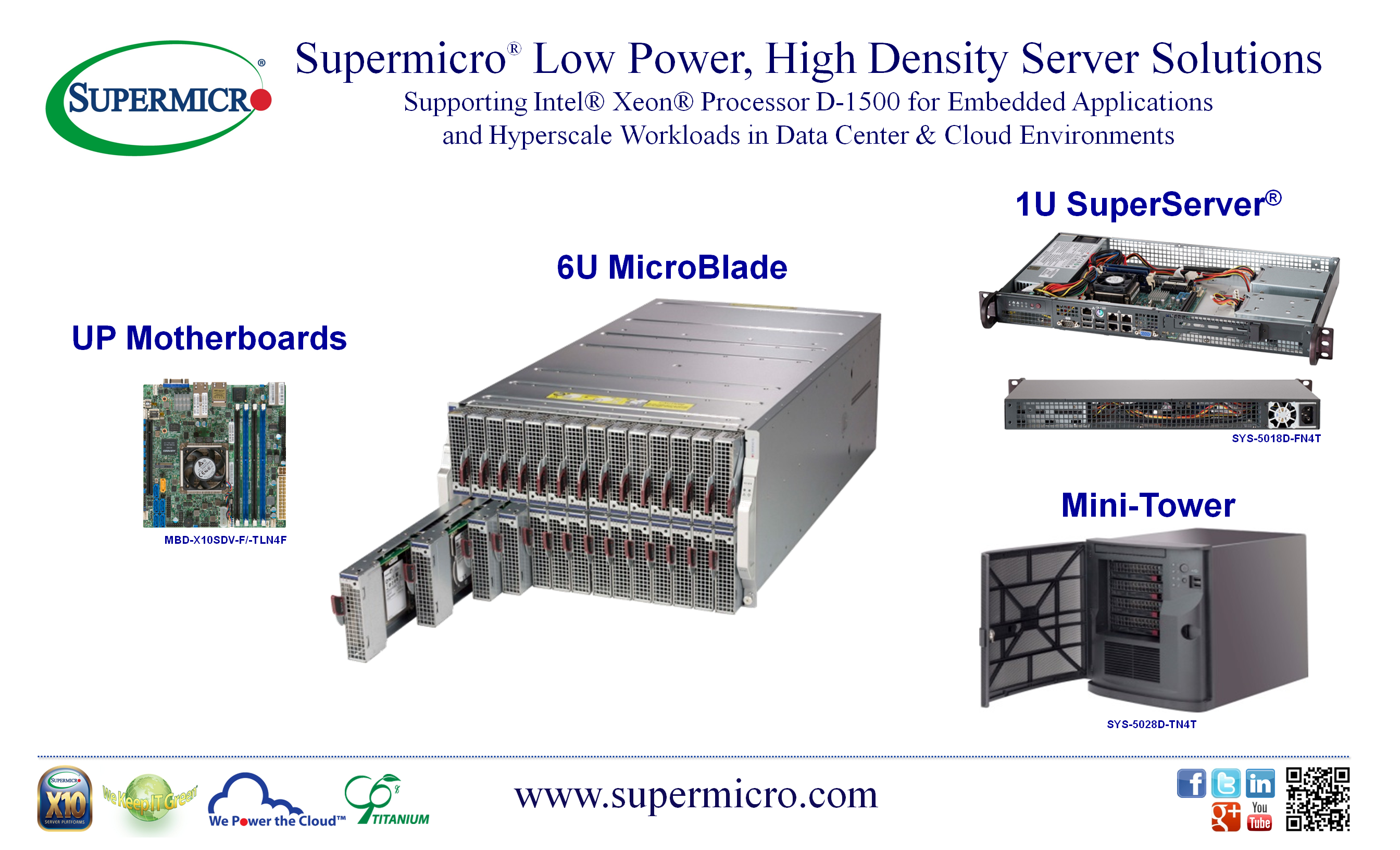 Supermicro Xeon D solutions